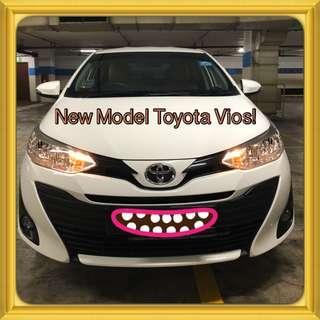TOYOTA VIOS 1.5E CVT! Promo Now! Petrol Saver Proven! 18% off petrol Card! Lowest Price! Can Drive Go-Jek/Grab/Ryde/Tada/Sixtnc! Flexible Rental Scheme! Personal User! Call Now!