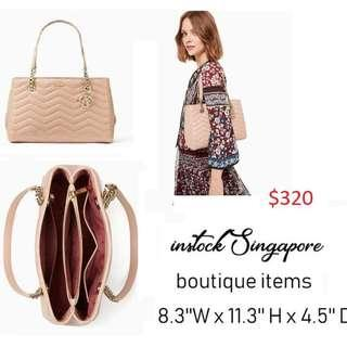 READY STOCK authentic new  Kate Spade Reese Park Small Courtnee Handbag Ginger Tea Pxru9224 full