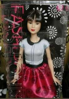 RARE Asian Barbie Fashionista Ruby Red Floral