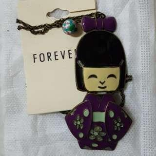F21 japan limited long necklace