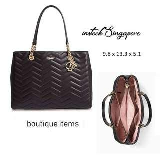 READY STOCK authentic new  Kate Spade Reese Park Courtnee Handbag black pxru9218 full leather