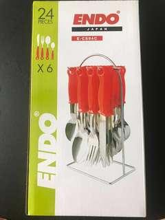 Endo Cutlery Utensil set stainless steel 24pc