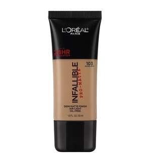 L'Oreal Infallible Pro-Matte Foundation 103 (Natural Buff)