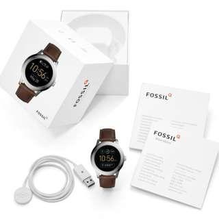 [Valentines Day Special] Fossil FTW2119 Gen 2 Smartwatch - Q Founder Dark Brown Leather