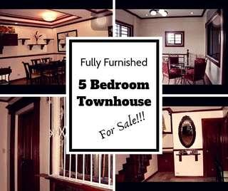 5 Bedroom Fully Furnished Townhouse in Don Antonio Commonwealth Quezon City