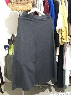 Dark Grey Long Skirt
