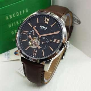 [Valentines Day Special] Fossil Townsman Automatic Leather Watch (Brown) ME3061