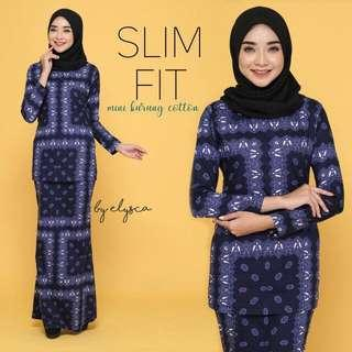 Slim Fit Mini Kurung Cotton