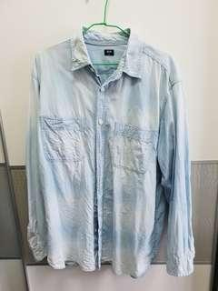 🚚 二手少穿uniqlo XL號 牛仔襯衫