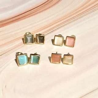 Earrings Pastel Colour 耳環 飾物 studs