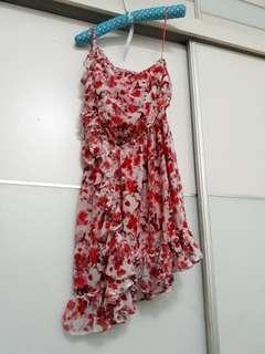 MNG Floral Red Off Shoulder Dress