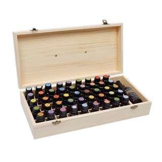 多特瑞doterra精油,香薰收纳木盒46格手提木箱45+1格实木精油盒子essential oil
