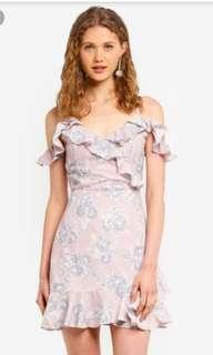 Mds collection cold shoulder floral dress