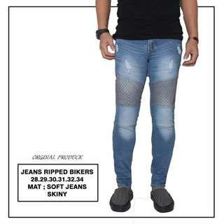 Jeans ripped bikers