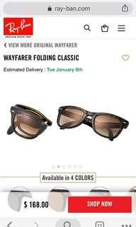 RayBan wayfarer foldable