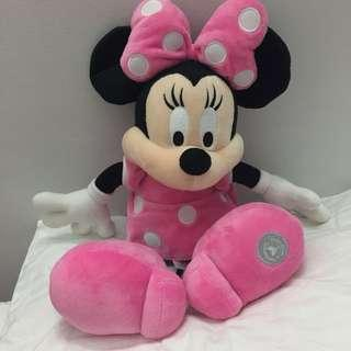 REAL HONG KONG DISNEYLAND MINNIE MOUSE PLUSHIE SOFT TOY