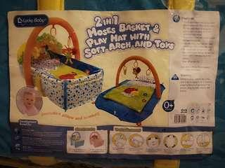 2 in 1 Moses Basket & Play Mat