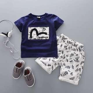 🌼INSTOCK🌼 BOYS Baby Top shorts Set