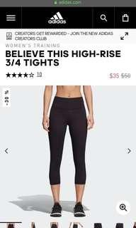 Adidas BELIEVE THIS HIGH-RISE 3/4 TIGHTS
