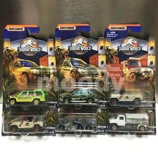 Matchbox Jurassic World Legacy Collection 2018 Diecast Vehicles Set