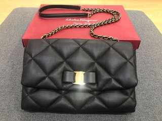 SALVATORE FERRAGAMO Limited edition Gelly Quilted Nappa Leather Shoulder Bag