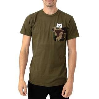 RipNDip Lord Nermal Pocket T Shirt Army Camo