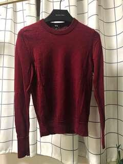 Uniqlo wine red wool sweater