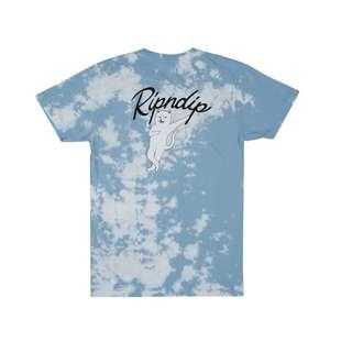 RipNDip Relax T Shirt Blue White Cloud Wash