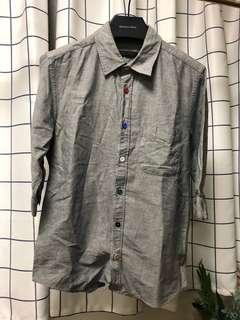 HARE men's grey shirt 日牌 中袖恤衫