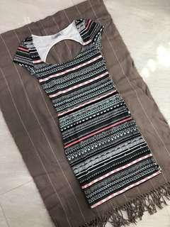 Pull&Bear Backless Bodycon Dress