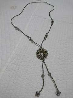 Silver Beaded Necklace Accessory