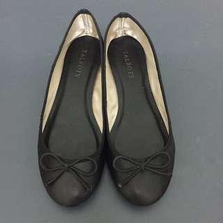 🚚 美國TALBOTS 黑色柔軟小羊皮芭蕾舞鞋 淺口 平底