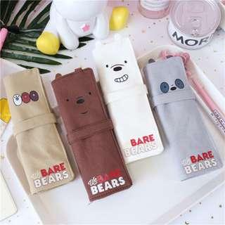 We Bare Bears Curtain Style Wrap / Roll Up Pencil Case