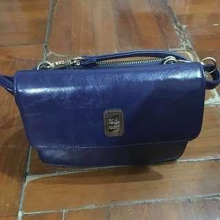 ANS 日系 側孭袋 2way 斜咩袋 深藍色