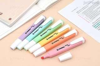 🚚 stabilo swing cool pastel highlighters