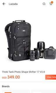 "Shape shifter v2 17"" Think tank photo brand new"