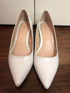 Zara Leather High Heel 白色皮高跟鞋