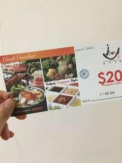 🚚 Hotpot Jpot $20 vouchers at Tampines Central
