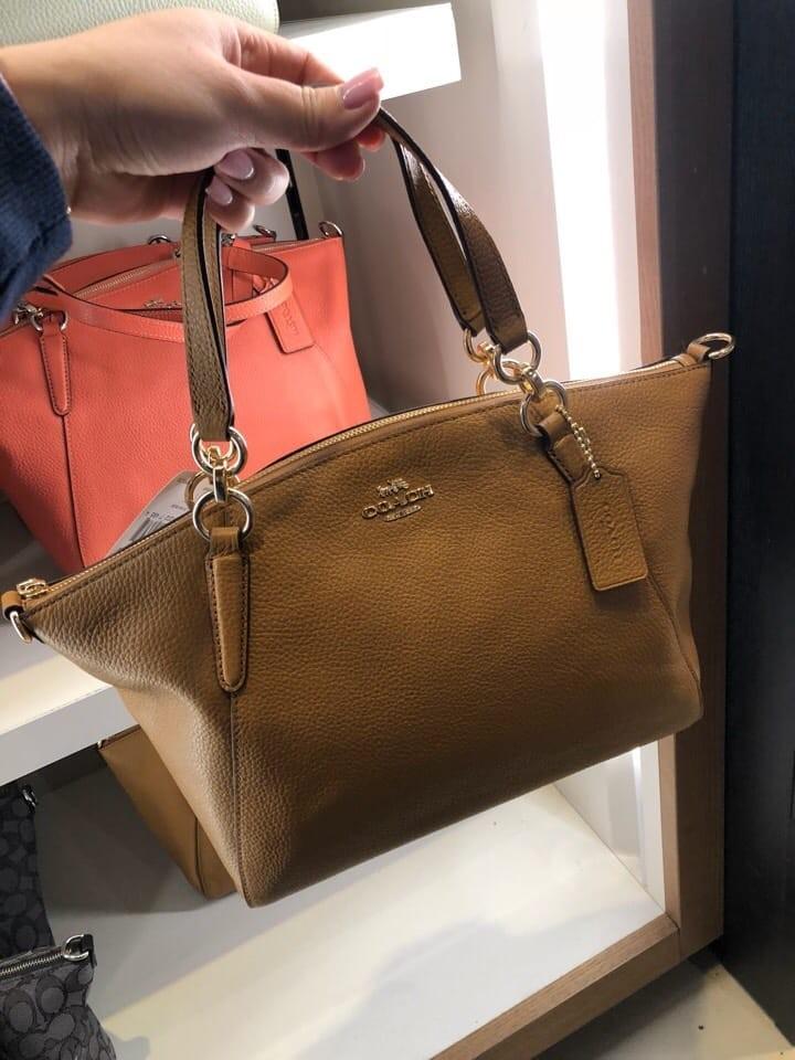 573e0c12afef 249 PO SALE! Coach Small Kelsey Handbag- Brown   Signature ☆AUTHENTIC☆