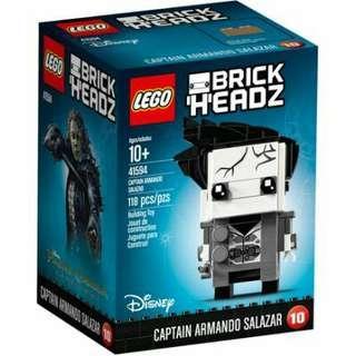 全新 box set lego 41594 brick headz 10 - captain armando salazar