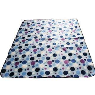 Outdoor suede picnic mat folding mat waterproof camping mat Beach mat