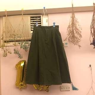 🚚 軍綠裙