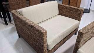 Genuine Rattan Sofa (Set) - Indoor or Outdoor