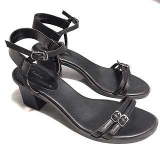 🚚 Pedro Strappy Heels Sandal Black Formal Work Office Shoes