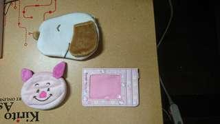 🚚 史怒比+小豬+Hello Kitty(零錢包+票夾)