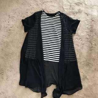 UNBRANDED Stripe black
