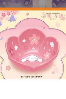 7-11 玉桂狗櫻花花形陶瓷碗