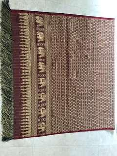 Red and Gold Silk (Table) Cloth