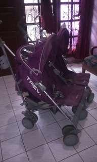 Dijual stroler baby elle for baby twins warna ungu