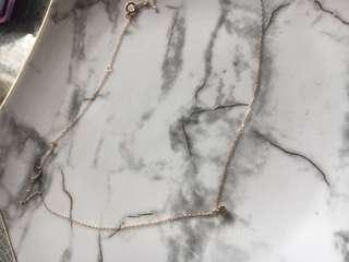 18k 玫瑰金鑽石 頸鏈